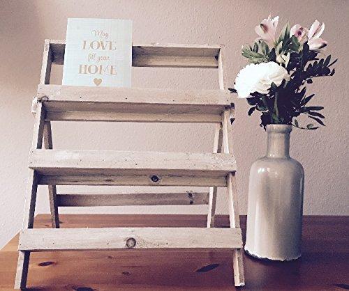klappbar Natural Collections POSTKARTENST/ÄNDER//Postkartenhalter//Fotost/änder//Fotohalter im Shabby und Vintage Look aus Holz Holzdeko geeignet f/ür Fotos und Gru/ßkarten