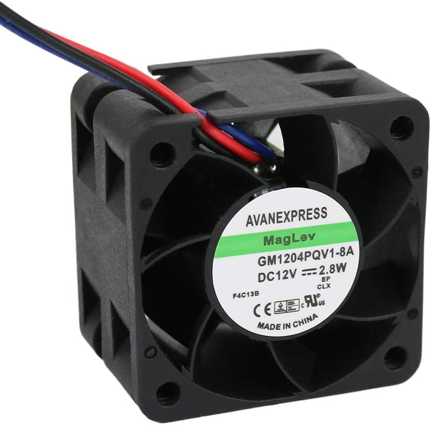 Twinkle Bay 40x28mm Cooling Fan 12V DC, 2.8 W 40 x 40 x 28mm with 3 Pin 3 Wire Connector Replacement for Maglev Cooling Fan