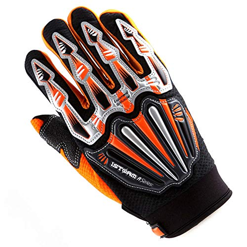 Motocross Motorcycle BMX MX ATV Dirt Bike Skeleton Racing Cycling Gloves Orange ()