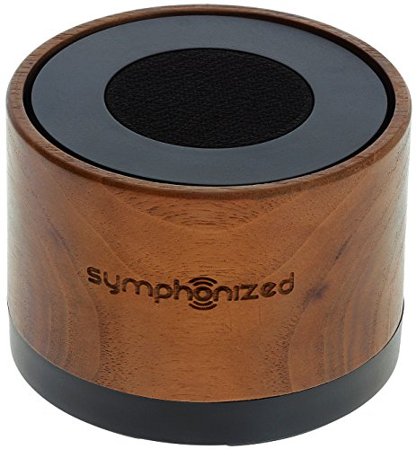 Symphonized NXT Premium Genuine One Piece Solid Hand Carved Walnut Wood Bluetooth Portable Speaker. Compatible with All Bluetooth iOS Devices, All Android Devices and Mp3 Players