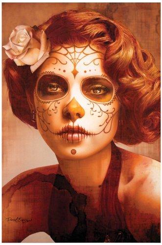 [Vendimia Belleza by Daniel Esparza Sugar Skull Mask Death Sexy Fine Art Print] (Death Dealer Mask)