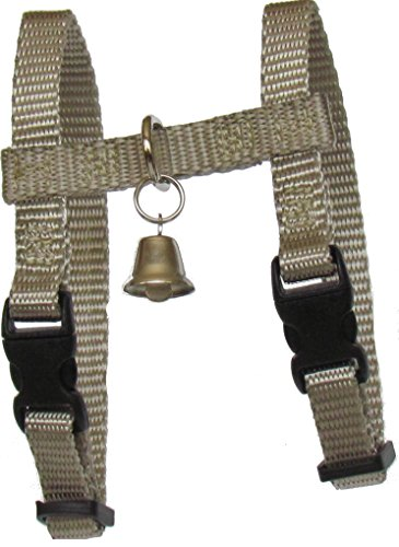 Sandia Pet Products 3/8' REGULAR Silver Ferret Harness with Bell - Adjustable - 3/8' Leash Webbing