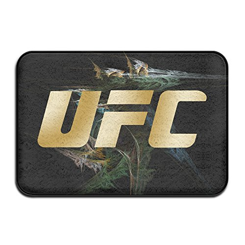 - UFC BLACK GOLD LOGO TRI BLEND Non-slip House Garden Gate Carpet Door Mat Floor Pads