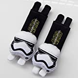 CJB Star Wars Plush Seat Belt Cover Shoulder Pad Cushion Black White