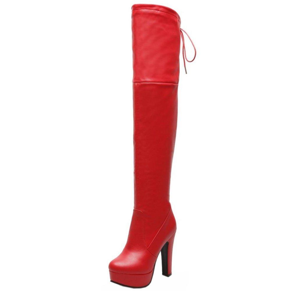 RAZAMAZA Damen Mode Mode Mode Stiefel Ohne Verschluss 73c8f5