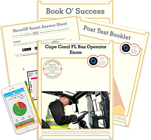 Cape Coral FL Bus Operator Exam, Florida Bus Driver's License Test Prep, Study Guide