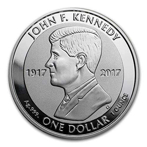 Silver British Virgin Islands - 2017 VG British Virgin Islands Silver Kennedy Commemorative Ungraded