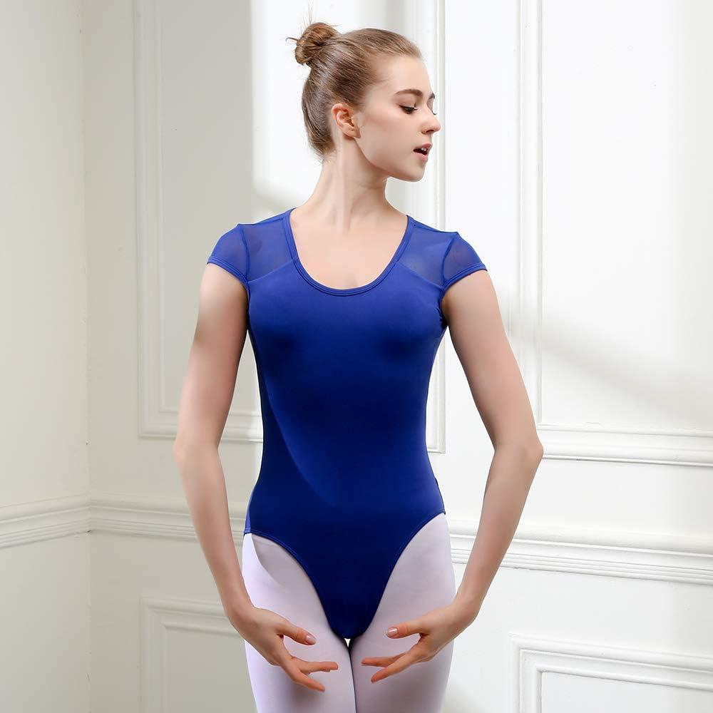 Bezioner Ballett Trikot Turnanzug R/ückenfrei Gymnastikanzug Mesh Tanzbody Tanztrikot f/ür M/ädchen und Damen