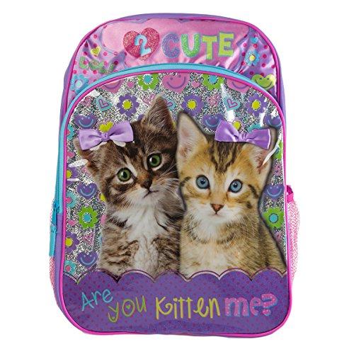 Puppy Love Backpack (Underrated Girls' Cute Kitten/Puppy Backpack, Purple)