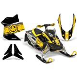 CreatorX Ski-Doo Rev Xp Snowmobile Sled Graphics Kit Wrap Decals Canadian Flyer Yellow Black