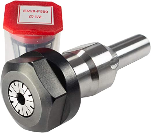 Shop Fox D3392 1//4-Inch and 1//2-Inch Router bit Spindle for W1702 Shaper