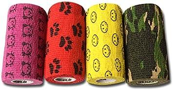 Vendaje de escayola LisaCare®, apósito de yeso autoadhesivo para los dedos - sin adhesivo ni elástico - apósito para la herida -10cm x 4.5m