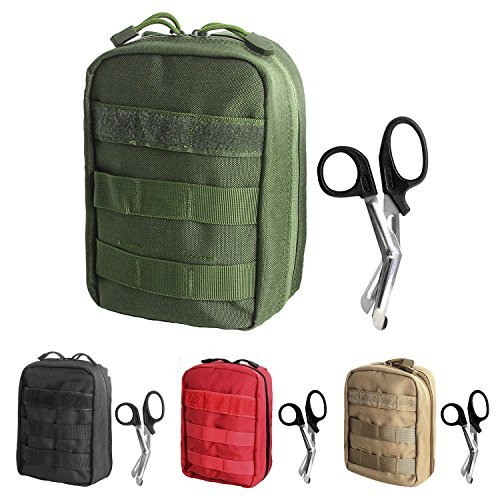 Tactical MOLLE EMT Medical First Aid IFAK Utility Pouch Bag (GREEN2) ()