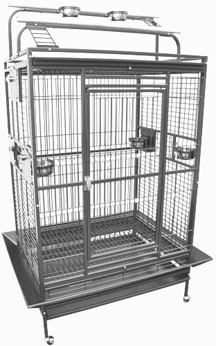 King s Cages 8004030 Parrot CAGE 40x30x72 Play Pen Bird Cages Toy Cockatoo Macaw