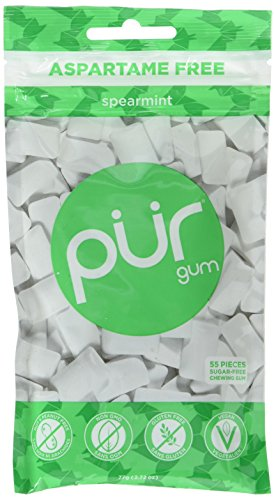 PUR Gum Aspartame Free, Spearmint, 2.8 Ounce