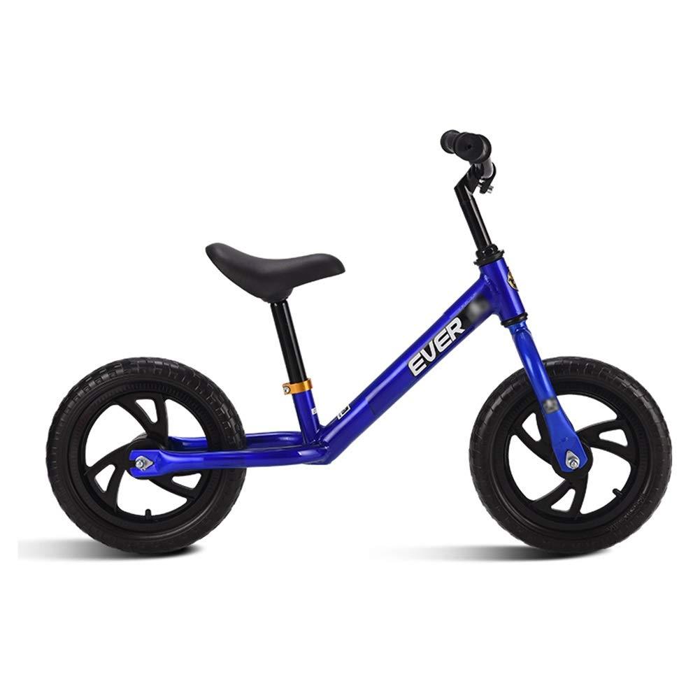 Blau 95x60cm AMDHZ Kein Pedal Laufrad Leicht Geschäumter Reifen Sitz Verstellbar Carbon Stahlrahmen Babys Erste Radtour Mädchen Jungen 1-5 Jahre Alt 3 Farben (Farbe   Blau, Größe   95x60cm)