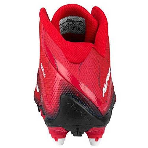 Nike Alpha Pro 2 3/4 D Heren Voetbal Cleat Spel Rood / Wit / Zwart