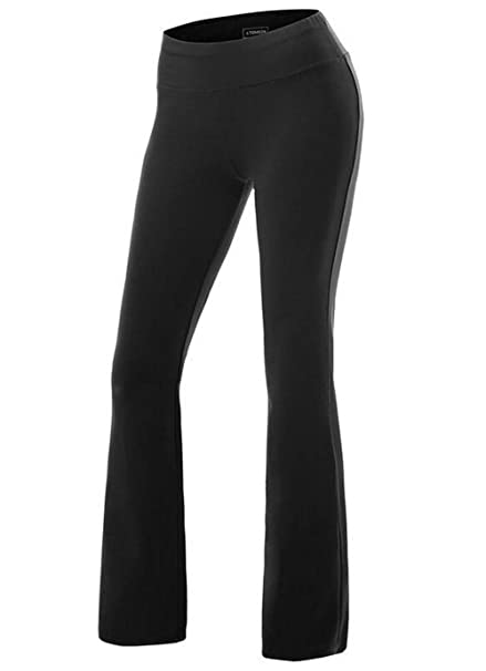 0e073b39720e80 Rookay RK High Waist Bootcut Leggings Tummy Control Wide Leg Yoga Pants for  Women Workout Running