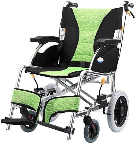 lHishop Älterer Rollstuhl Kann Faltbarer Leichter Aluminiumrollstuhl Tragbarer Rollstuhl Für Mobile Bequemer Transportstuhl Für ältere Und Untaugliche Personen