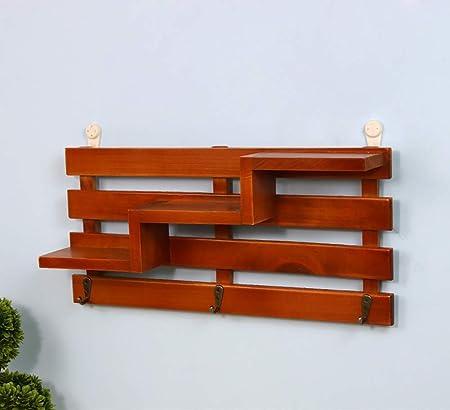YWAWJ Flower Stand montado en la pared de la planta de madera sólida del soporte de
