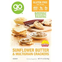 GoPicnic Ready-to-Eat Meals Sunflower Butter & Multigrain Crackers, 6 ounce