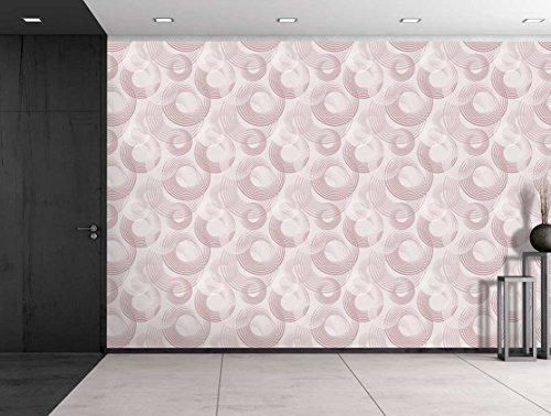 Large Wall Mural Abstract Semi Circles Vinyl Wallpaper Removable Decorating