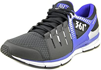 361 Degrees Bio Speed Mens Black Mesh Low Top Athletic Cross Training Shoes
