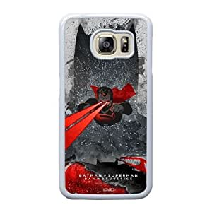 Wunatin Hard Case ,Samsung Galaxy S6 Edge Cell Phone Case White New Batman vs Superman Dawn of Justice [with Free Touch Stylus Pen] BA-2232920