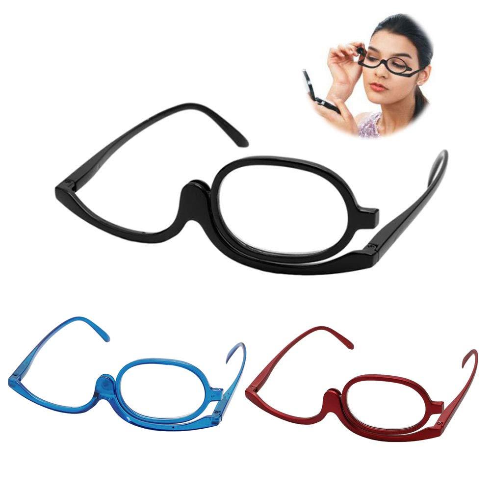 Make up Brille,+1,5 +2,0 +2,5 3.0 3,0,+3,5,+4,0 Fogun Lesebrillen,Damen Schminkbrille