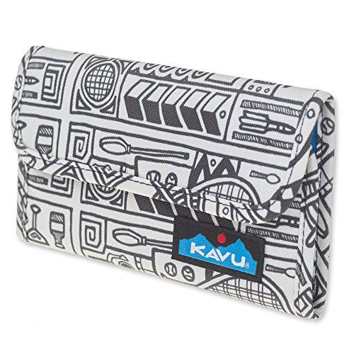 Plaid Tri Fold Wallet - KAVU Mondo Spender Trifold Wallet Womens Clutch Travel Organizer - Yard Games