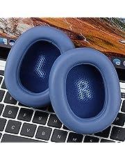 JSANSUI Oorkussen Hoofdtelefoon Imitatie Leer + Schuim Zachte Oortelefoon Beschermende Cover Oordopjes, voor JBL Everest Elite 750NC (Een paar), Blauw