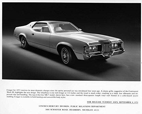 1971 Mercury Cougar Automobile Photo Poster
