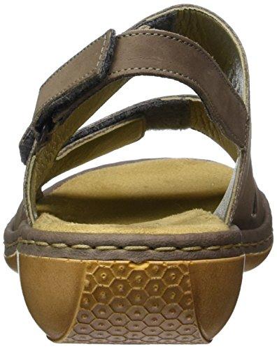 Rieker 65992 Women Open Toe - Sandalias Mujer Grau (mineral / 43)