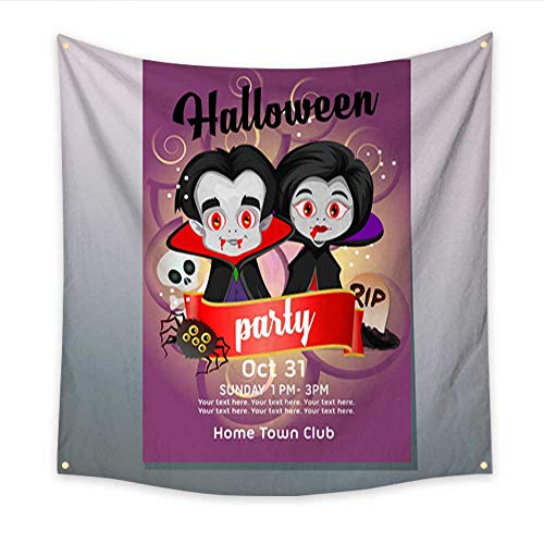 Anniutwo Tapestry for Teen Girls Halloween Party Poster with Dracula Costume Living Room Bedroom Dorm Decor in 47W x 47L Inch -