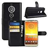 Moto E5 Play Case, Moto E5 Cruise Case, Fettion Premium PU Leather Wallet Flip Phone Protective Case Cover with Card Slots for Motorola Moto E5 Play/Moto E5 Cruise Smartphone (Black)