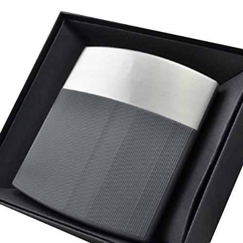 Plastic 10 Cigarettes and Case Cigarette 7x1 for Cigarette Cigarette Metal Grey 9 Grey 5cm 7x8 Holder Box AiSi U4wSAqA