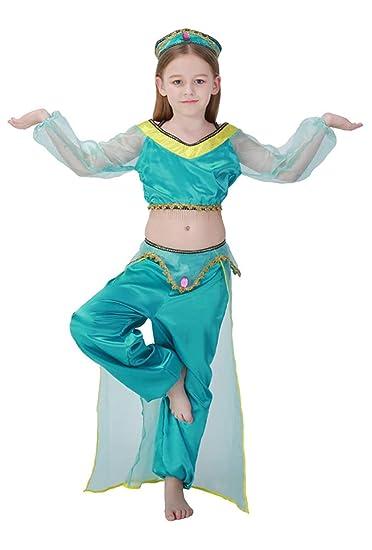 MOMBEBE COSLAND Disfraz de Princesa Árabe para Niña Traje de ...