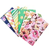 TOYMYTOY Pocket Notebook,Premium Mini Ruled Pocket Journal,Waterproof Cover Memo Notepad,Assorted Patterns, Pack of 6