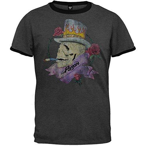 Poison - Mens Top Hat Ringer T-shirt Lar - Hat Ringer Shopping Results