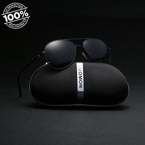 166c17396b LUOMON MB209 58mm Polarized Aviator Sunglasses - Import It All