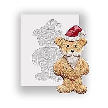 Molde de silicona - Navidad Ted con barba - apto para alimentos: Amazon.es: Hogar