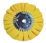 Renegade Products Buffing Wheel 10'' DIA X 5/8 Arbor 16 Ply Yellow Treat