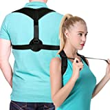 Posture Corrector Upper Back Braces for Women Men, Adjustable Thoracic Brace for Hunching Slouching, Neck Shoulder Supports for Upper Back Alignment and Pain Relief, Bonus Gift 2x Armpit Pads