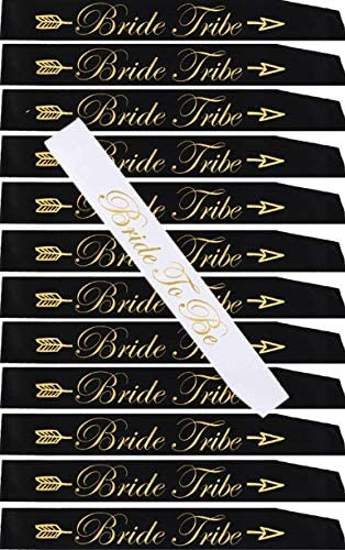 TEAM BRIDE SASHES /& GOLD TATTOOS HEN NIGHT PARTY KIT SET OF 12
