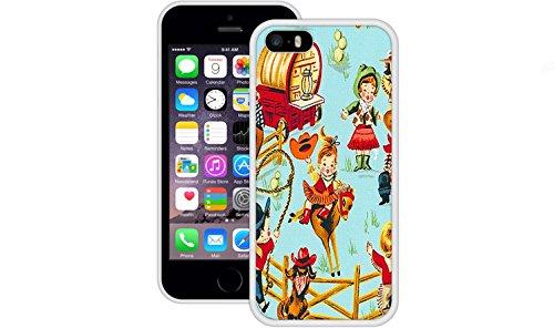 Cowboy Retro | Handgefertigt | iPhone 5 5s SE | Weiß TPU Hülle