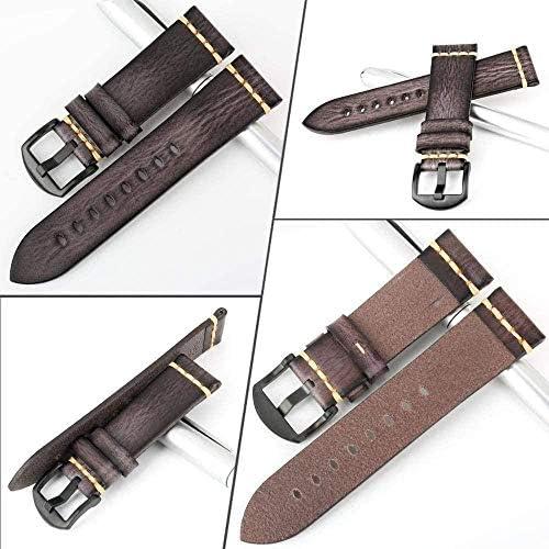 Cinturino Sportivo Orologio Universale Cinturino Fatto a Mano 20mm 21mm 22mm 23mm 24mm Cinturino in Pelle (Colore Cinturino: AshBlack Rose Gold Larghezza Cinturino: 20mm) Uptodate