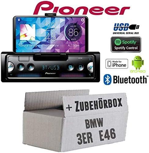 Autoradio Radio Pioneer Sph 10bt Smartphone Empfänger Mit Bluetooth Spotify Android Iphone 4x50watt Einbauzubehör Einbauset Für Bmw 3er E46 Just Sound Best Choice For Caraudio Navigation