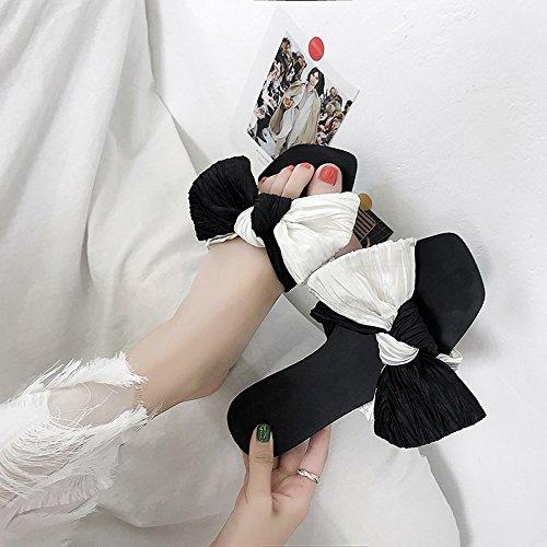 Couleur Gens Noir 37 des Pantoufles des 3 et Noir Portant 1 EU Plage Taille Sauvage Yiwuhu Plates Paresseux Sandales de dwFzndO7qZ