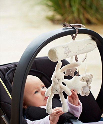 2 X Hanging Toy Baby Rattle Toy Soft Plush Crib Stroller Rabbit Musical Pendant Baby Plush Crib (Holiday Hanging Mobile)