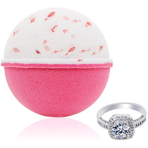 Bath Bomb with Surprise Size Ring Inside - Pink Himalayan Sea Salt...